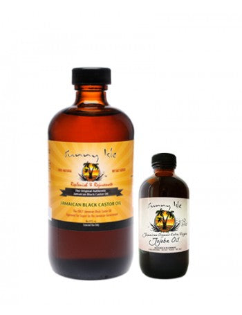 SUNNY ISLE JAMAICAN BLACK CASTOR OIL AND JOJOBA OIL BUNDLE
