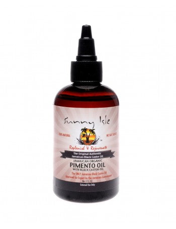 SUNNY ISLE JAMAICAN ORGANIC PIMENTO OIL WITH BLACK CASTOR OIL 4OZ