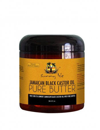 SUNNY ISLE JAMAICAN BLACK CASTOR OIL PURE BUTTER WITH COCONUT OIL 8OZ
