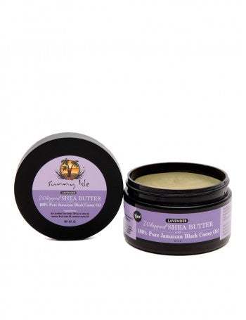 SUNNY ISLE LAVENDER WHIPPED SHEA BUTTER WITH 100% PURE JAMAICAN BLACK CASTOR OIL 4OZ