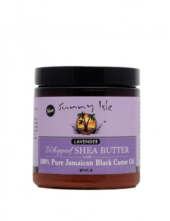 SUNNY ISLE LAVENDER WHIPPED SHEA BUTTER WITH 100% PURE JAMAICAN BLACK CASTOR OIL 8OZ
