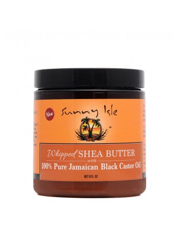 SUNNY ISLE WHIPPED SHEA BUTTER WITH 100% PURE JAMAICAN BLACK CASTOR OIL 8OZ
