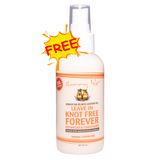 FREE ONLY! NEW & IMPROVED SUNNY ISLE KNOT FREE FOREVER LEAVE IN CONDITIONER 1OZ