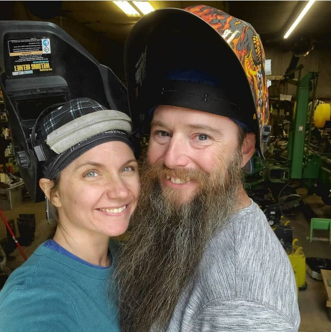 Race Ready Obstacles LLC husband and wife owners working in the shop