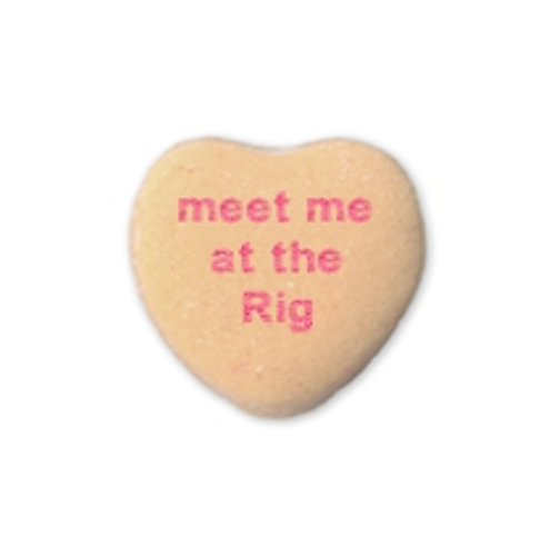Spartan Race OCR-themed Valentine's candy heart: meet me at the rig