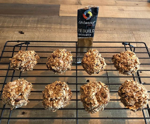 Tailwind Rebuild Recovery chocolate chip oatmeal bites for OCR endurance athletes to replenish glycogen