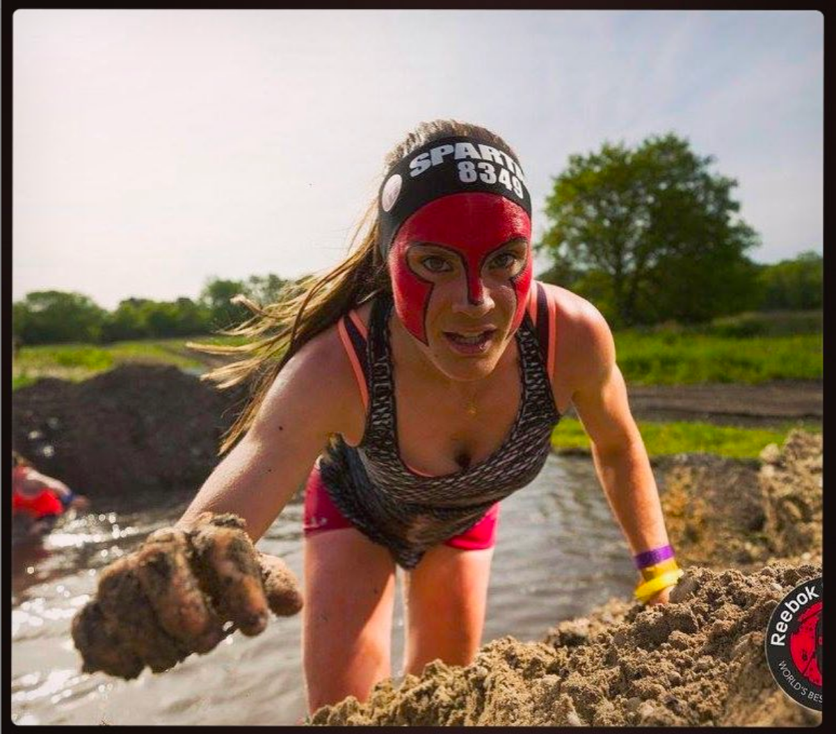 Katie Purcell aka Pretty Fierce Spartan at Spartan Race obstacle