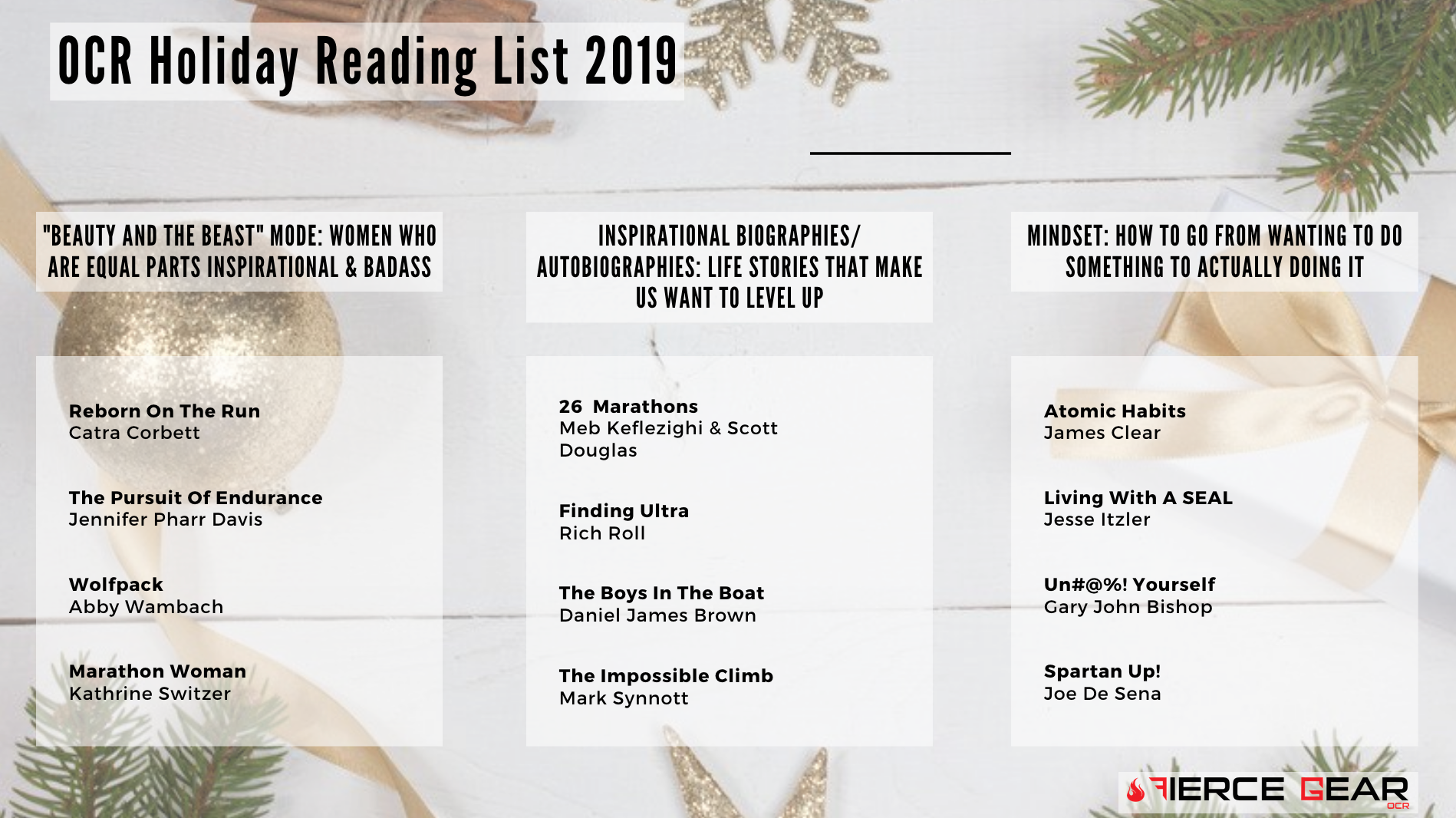 Fierce Gear OCR Holiday Reading List 2019