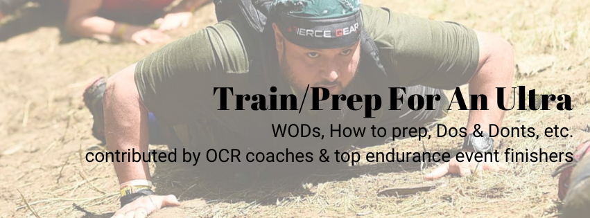 Spartan Race Ultra Training and Prep Info page on Fierce Gear OCR
