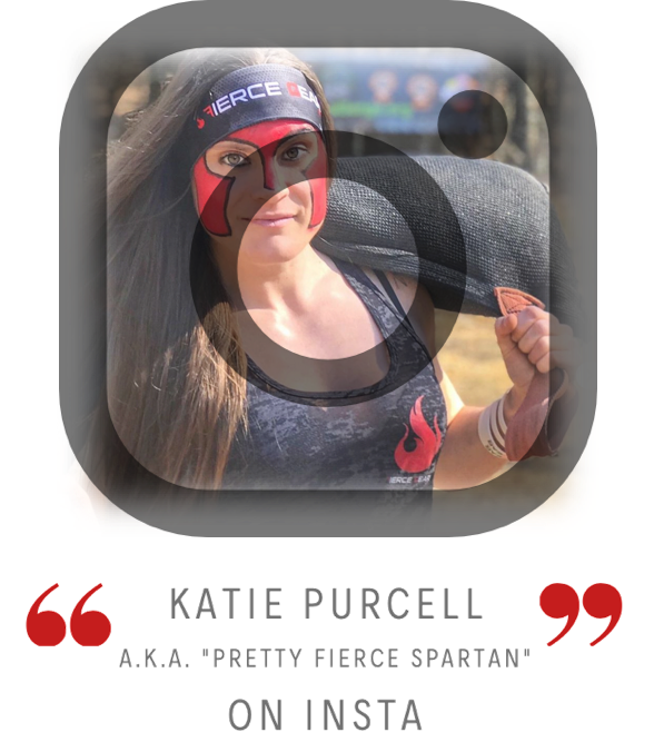 Katie Purcell aka Pretty Fierce Spartan link to Instagram account