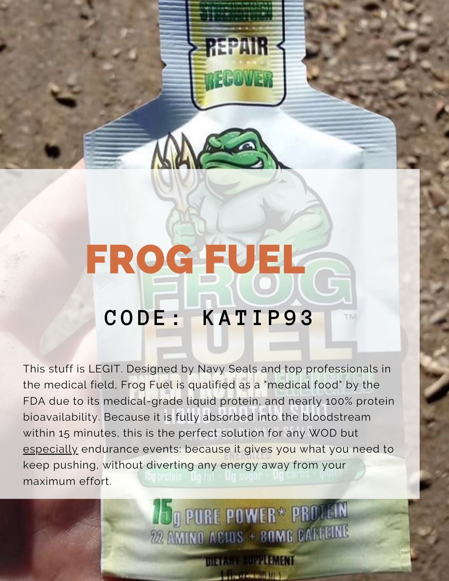 Frog Fuel liquid protein affiliate link discount information