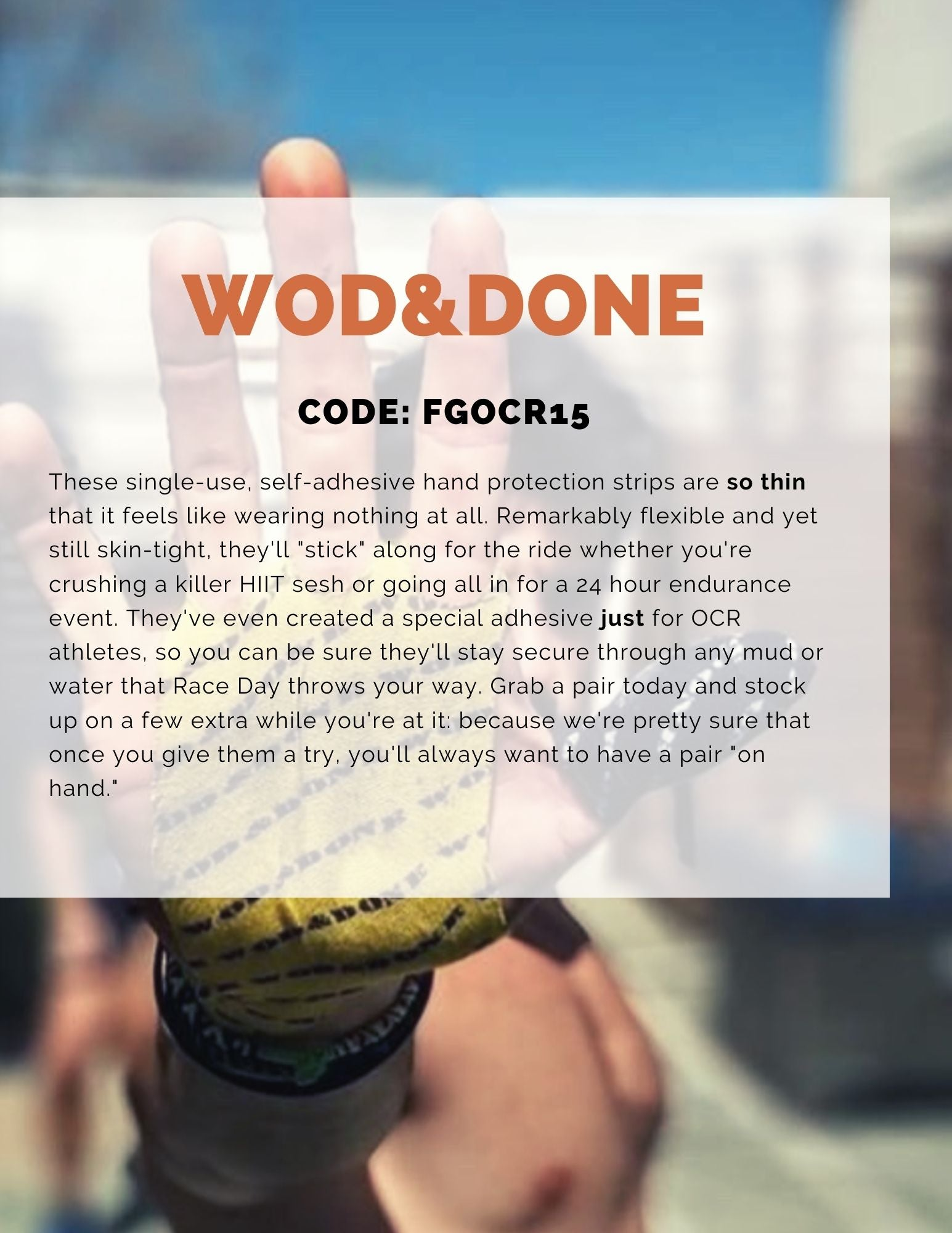 WODNDONE self adhesive grip protection discount code