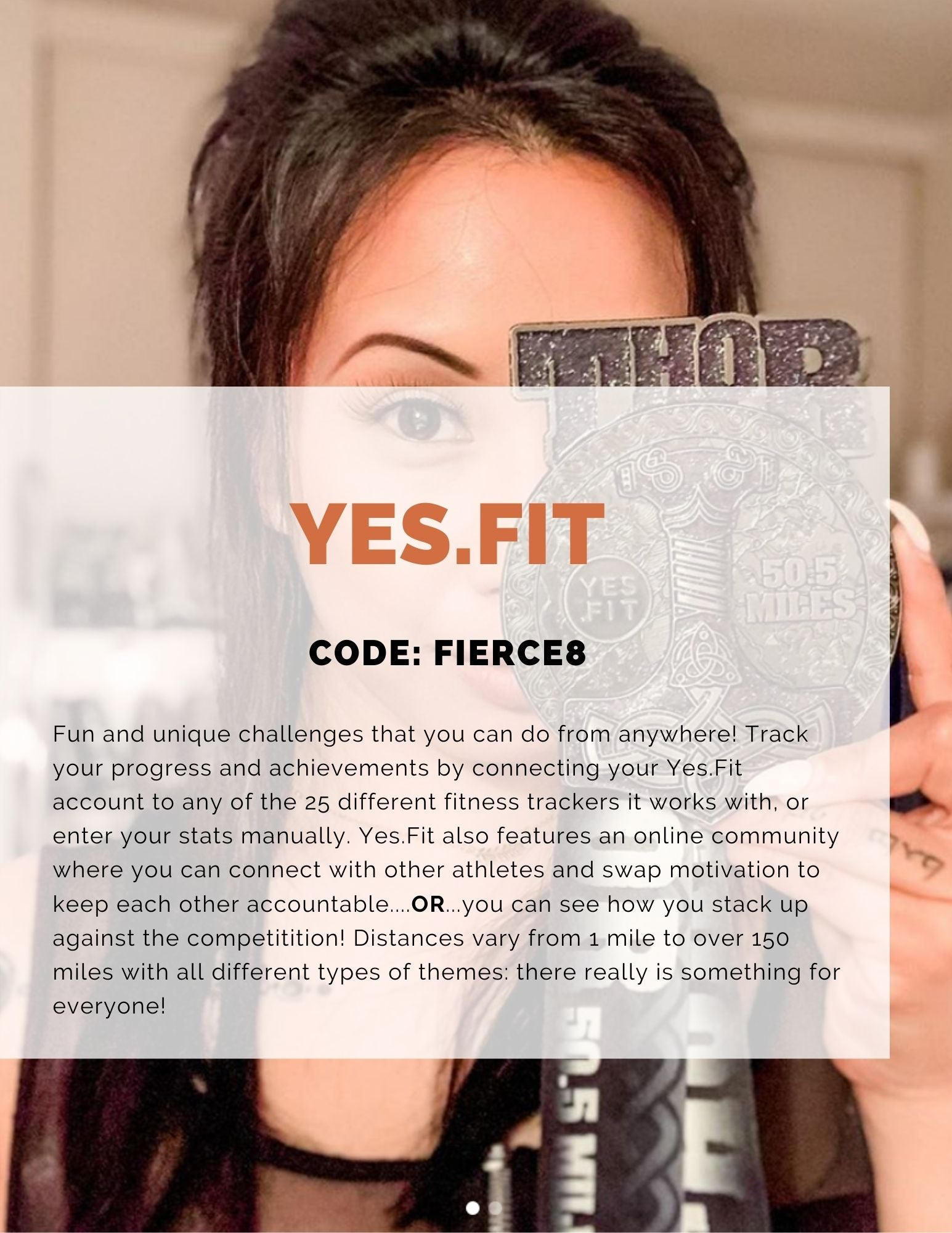Yes.Fit online virtual races and challenges