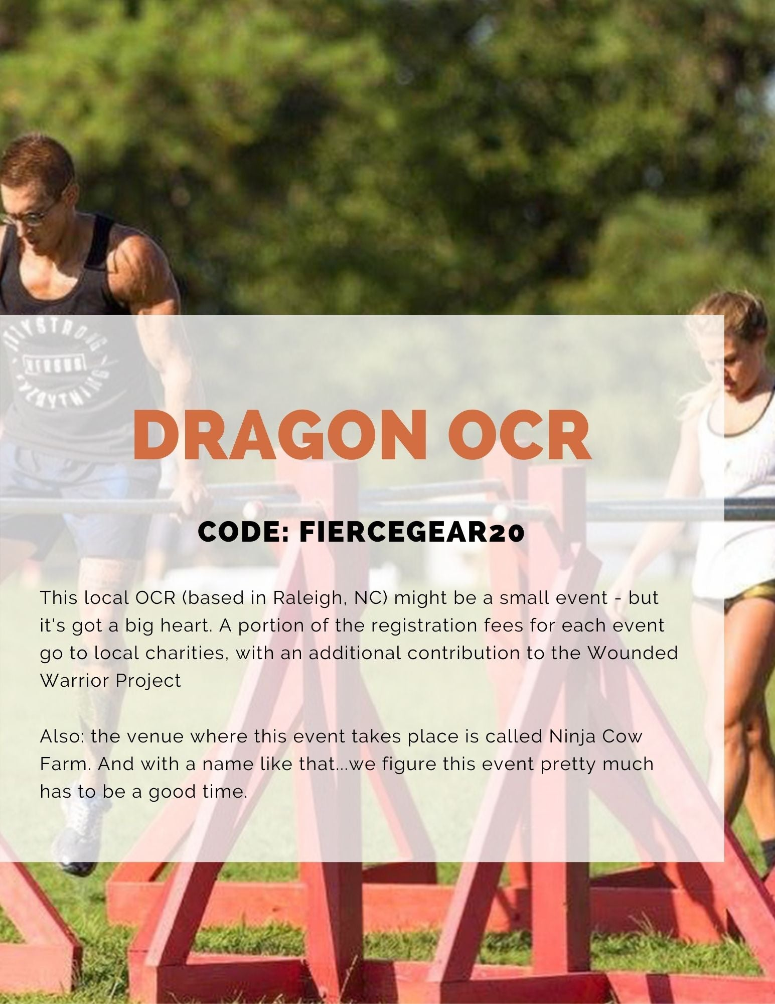 Dragon OCR obstacle course race in Raleigh, NC