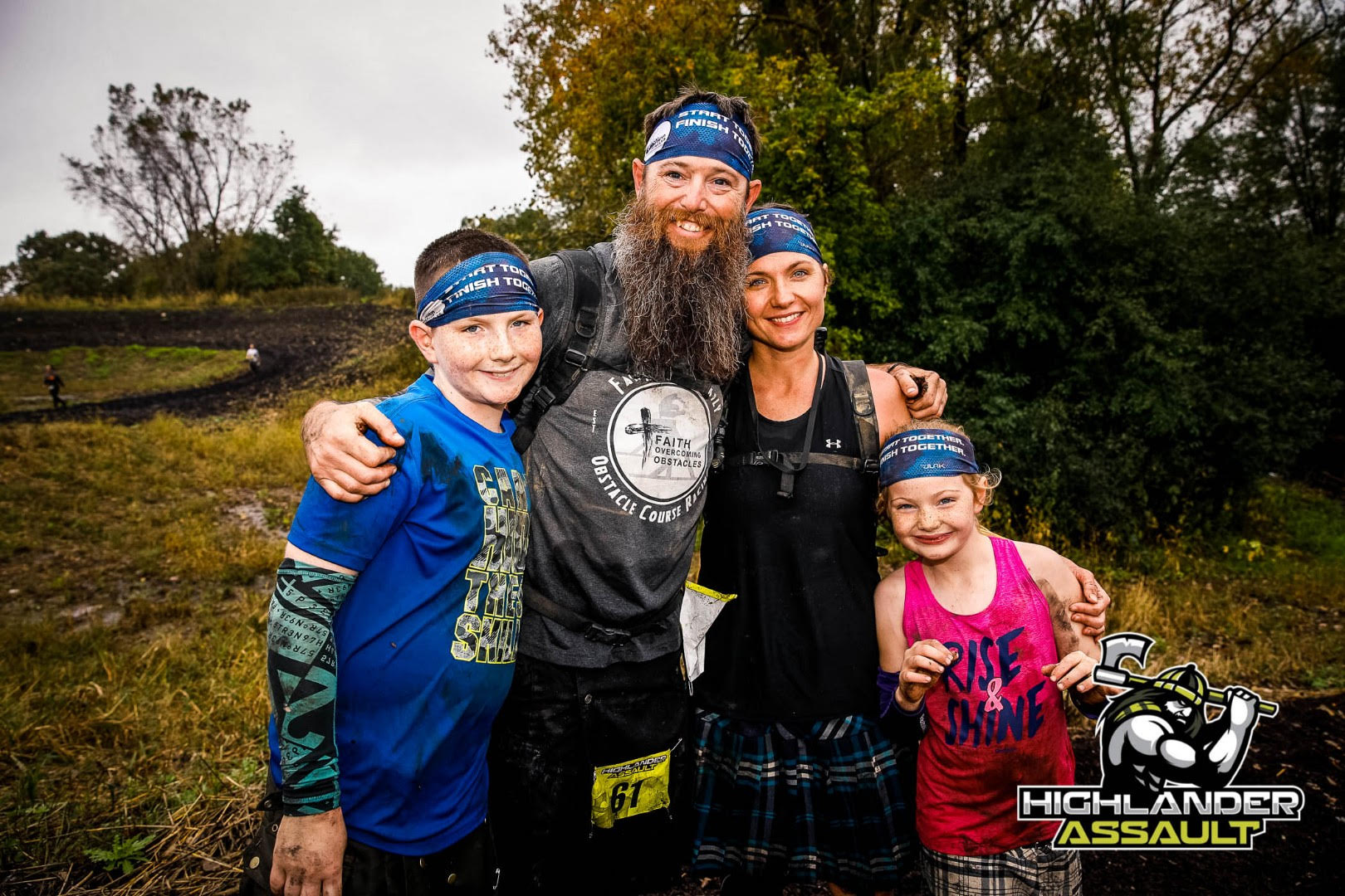 Race Ready Obstacles founders and family at Highlander Assault OCR