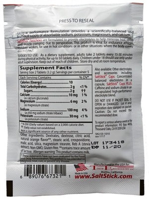 SaltStick Fastchews (Tart Orange): 10 Tablets