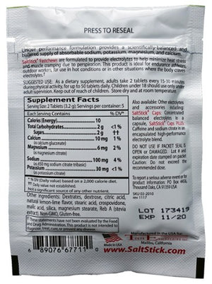 SaltStick Fastchews (Zesty Lemon Lime): 10 Tablets