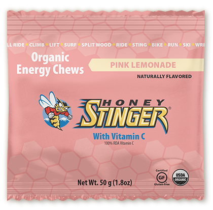 Honey Stinger Organic Energy Chew: Pink Lemonade