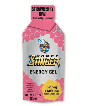 Honey Stinger Organic Energy Gel: Strawberry Kiwi (Caffeinated)