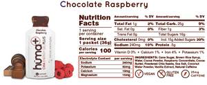 Huma Chia Energy Gel: Chia Plus (Chocolate Raspberry)