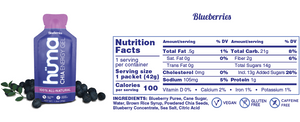 Huma Chia Energy Gel: Original (Blueberries)