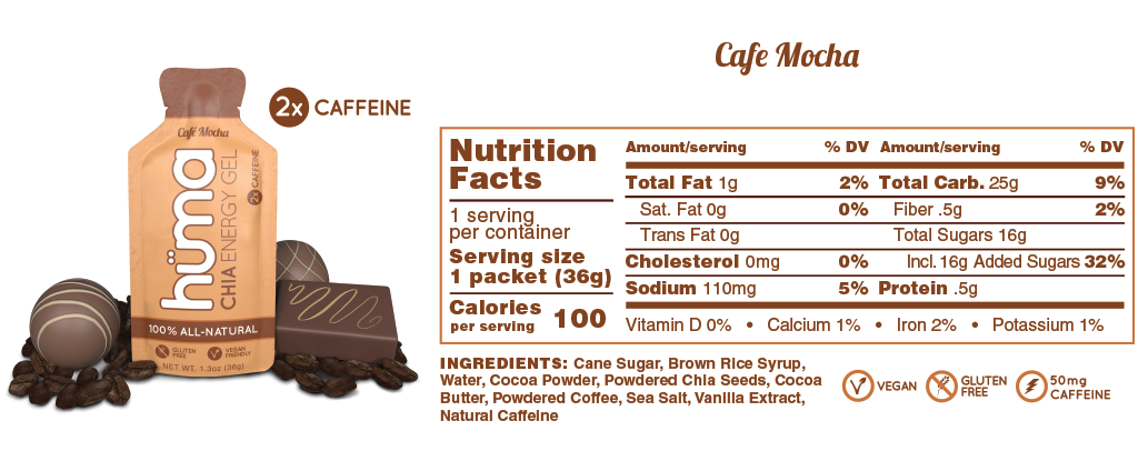 Huma Chia Energy Gel: Original (Cafe Mocha)
