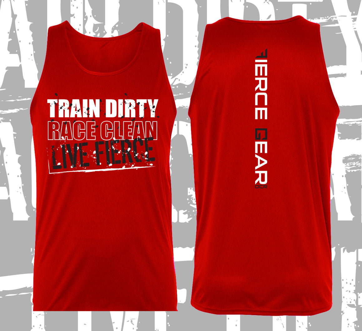 Train DIRTY, Race CLEAN Performance Tank - Men's