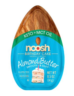 Noosh Almond Butter Packets: Keto Friendly With Added MCT Oil: Birthday Cake