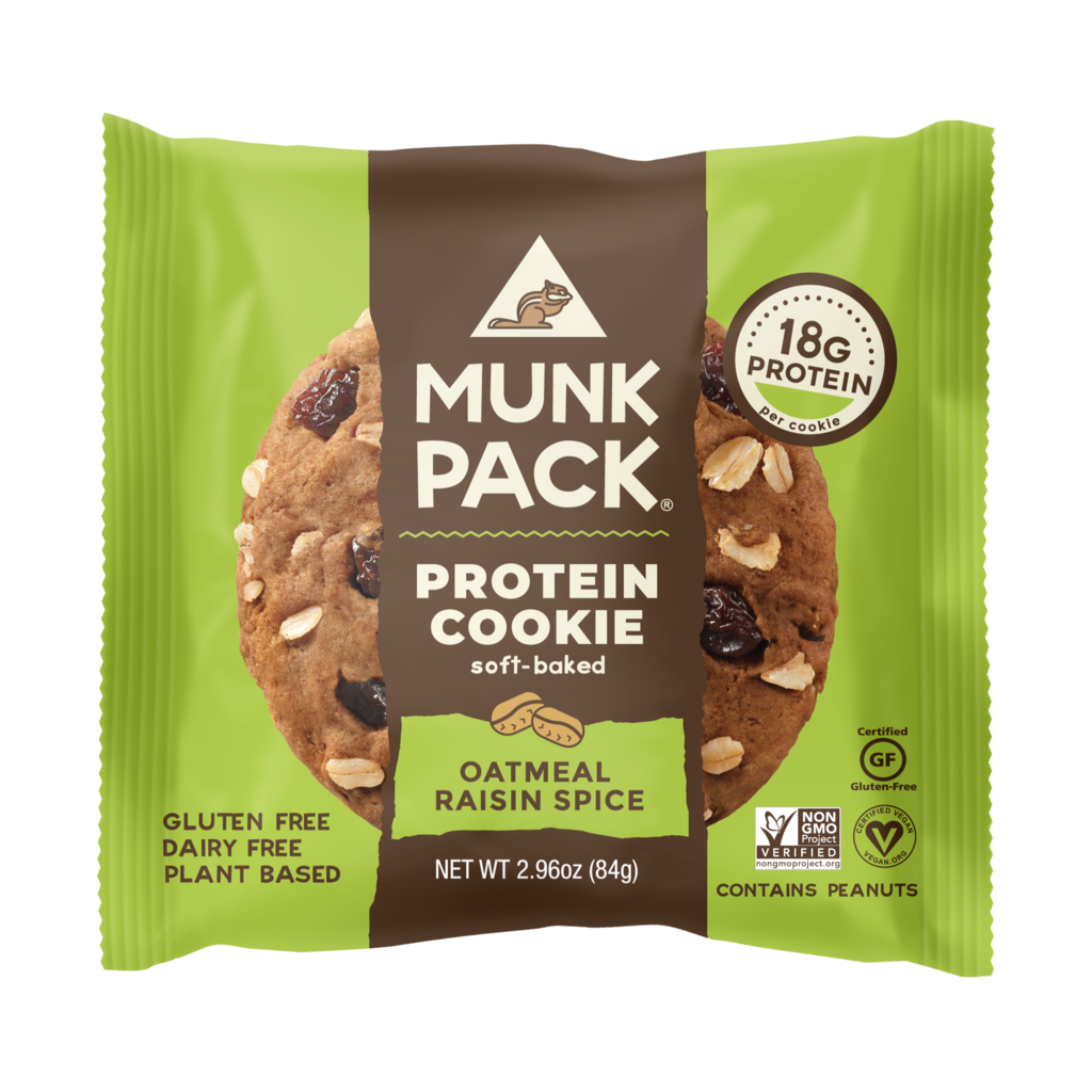 Munk Pack Protein Cookie: Oatmeal Raisin Spice