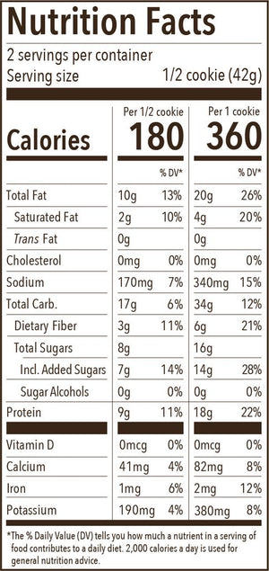 Munk Pack Protein Cookie: Peanut Butter Chocolate Chip