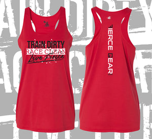 Train DIRTY, Race CLEAN Performance Tank - Women's