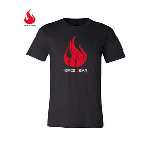 Fierce Gear Stamp Tee - Heather Black