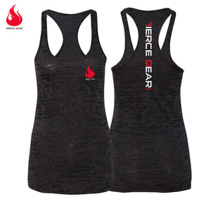 Women's Fierce Burnout Tank - Black