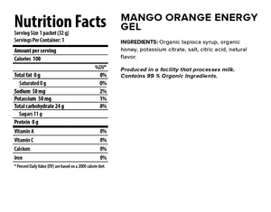 Honey Stinger Organic Energy Gel: Mango Orange