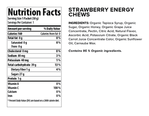 Honey Stinger Organic Energy Chew: Strawberry