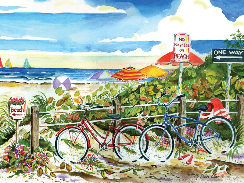 "Puzzle ""No Bikes on the Beach"""