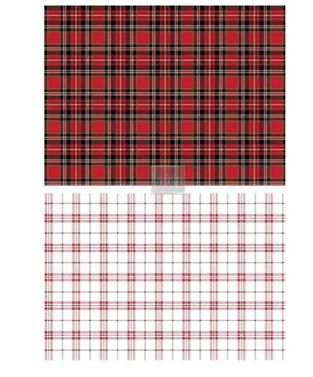 """Transfer Gingham Red"