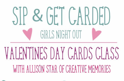 Sip & get carded girls night out class