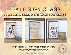 Fall sign class