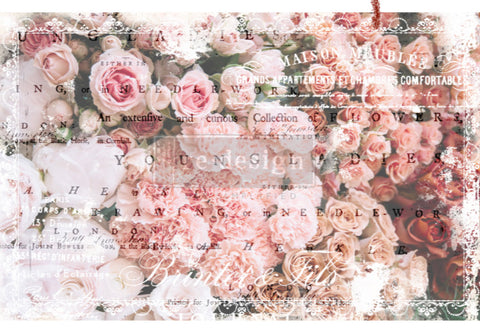 """Decoupage paper Angelic Rose Garden"
