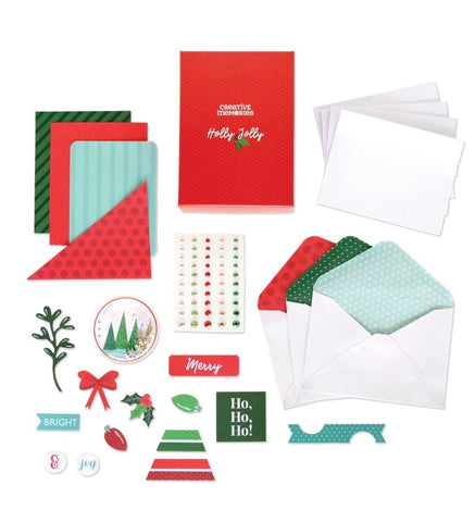 Sip & get carded Xmas card kit class