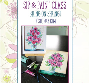 Bring on spring, sip & paint class