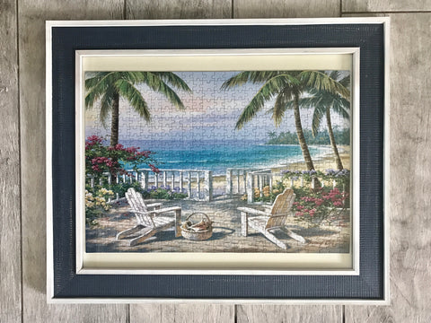 Framed puzzle (coastal view)