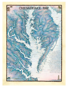 "Puzzle ""Chesapeake Bay waterways"""