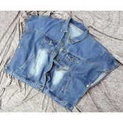 Halo Denim Cape