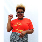Glam Tee- My Life... My Style-Spicy Orange