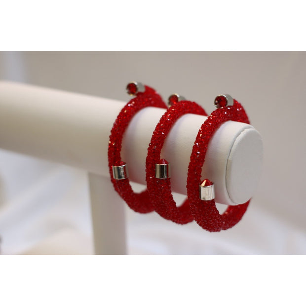 Sparkler Bangles - Flaming Red Solid Set