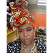 Head-Wraps - Gold Metallic Overlay Prints