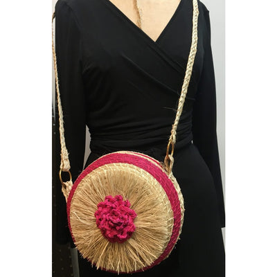 Puff Puff Circle Crossbody- Pink