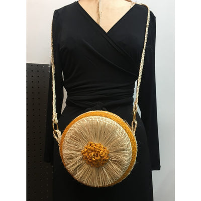 Puff Puff Circle Crossbody -  Mustard Yellow